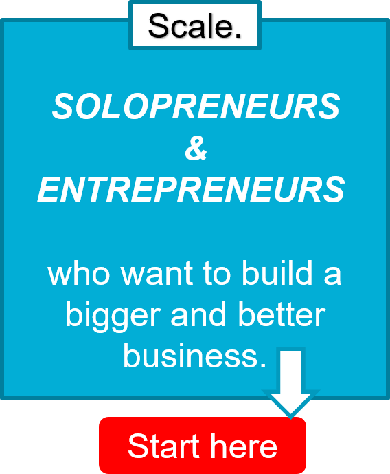 Business coach Dave Labowitz helps solopreneurs and entrepreneurs who want a bigger and better business SCALE their business.